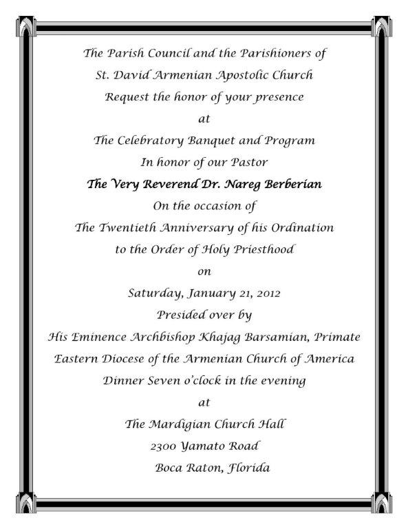 Upcoming armenian community events around florida florida armenians sat jan 21 banquet honoring very rev dr nareg berberians 20 anniversary of ordination to the holy priesthood 700 pm stopboris Choice Image