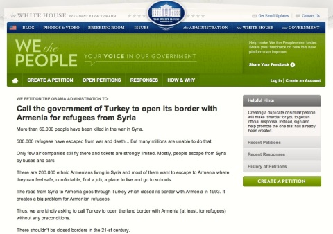 WH Petition_Syrian-Arm_01.11.13