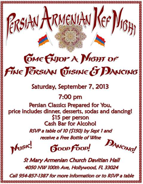 Persian Armenian Kef Night, Sept. 7, 2013