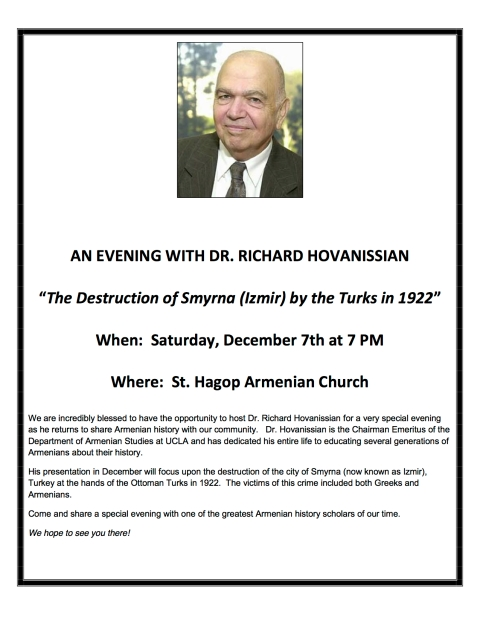 SHAC_Hovanissian Lecture_12.07.13