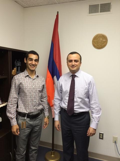 Gevorg Shahbazyan with Nagorno Karabakh Representative Robert Avetisyan
