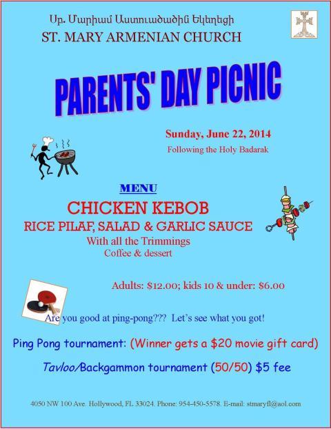 PICNIC, Parents Day - June 22, 2014
