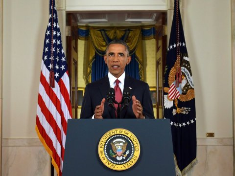 U.S. President Barack Obama lays out his strategy to defeat ISIL. September 10, 2014