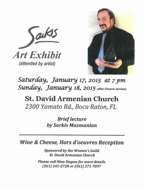 Sarkis Art Exhibit_01.17.15