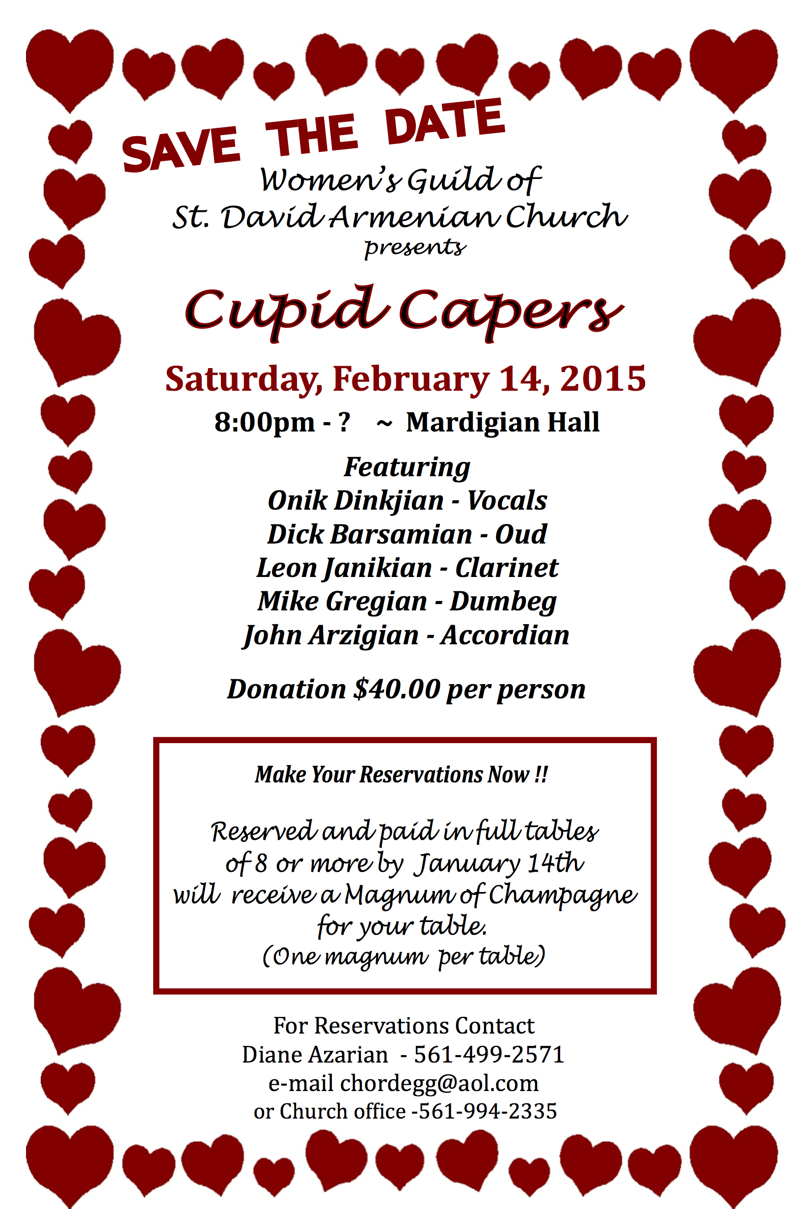 Cupid Capers Valentine S Day Dance At St David Armenian Church