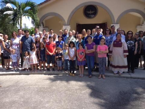 Group in front of church #07