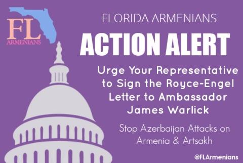 FLArmenians Action, R-E letter