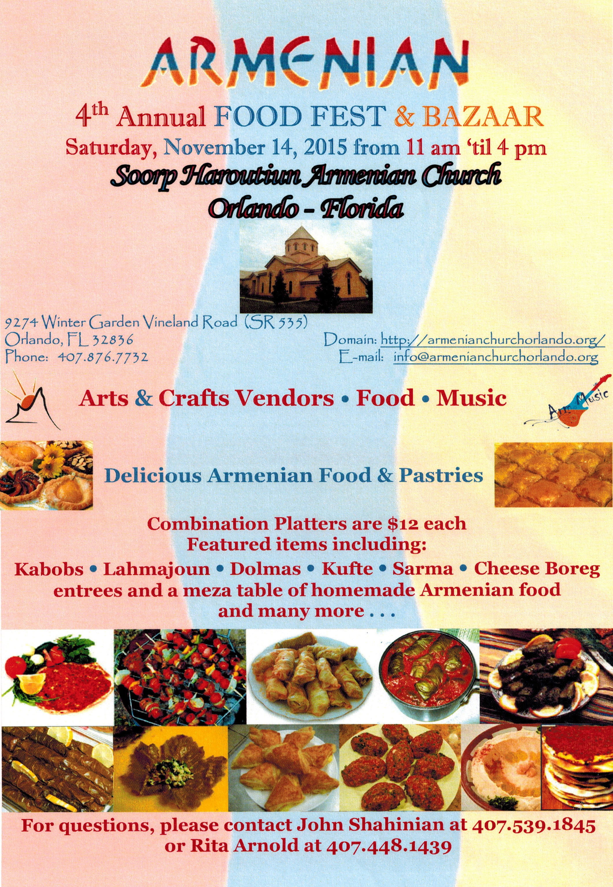 fourth annual armenian food festival coming to orlando florida