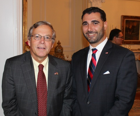 Deputy Assistant Secretary John Heffern and Taniel Koushakjian