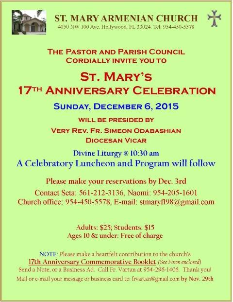 St. Mary anniversary