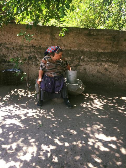 An Armenian villager in Garni.