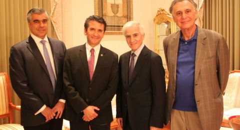 (L-R): Mr. Alexis Gevorgian, Dr. Khodam Rostomian, AECP Founder Dr. Roger Ohanesian, and Mr. Michael Sahakian