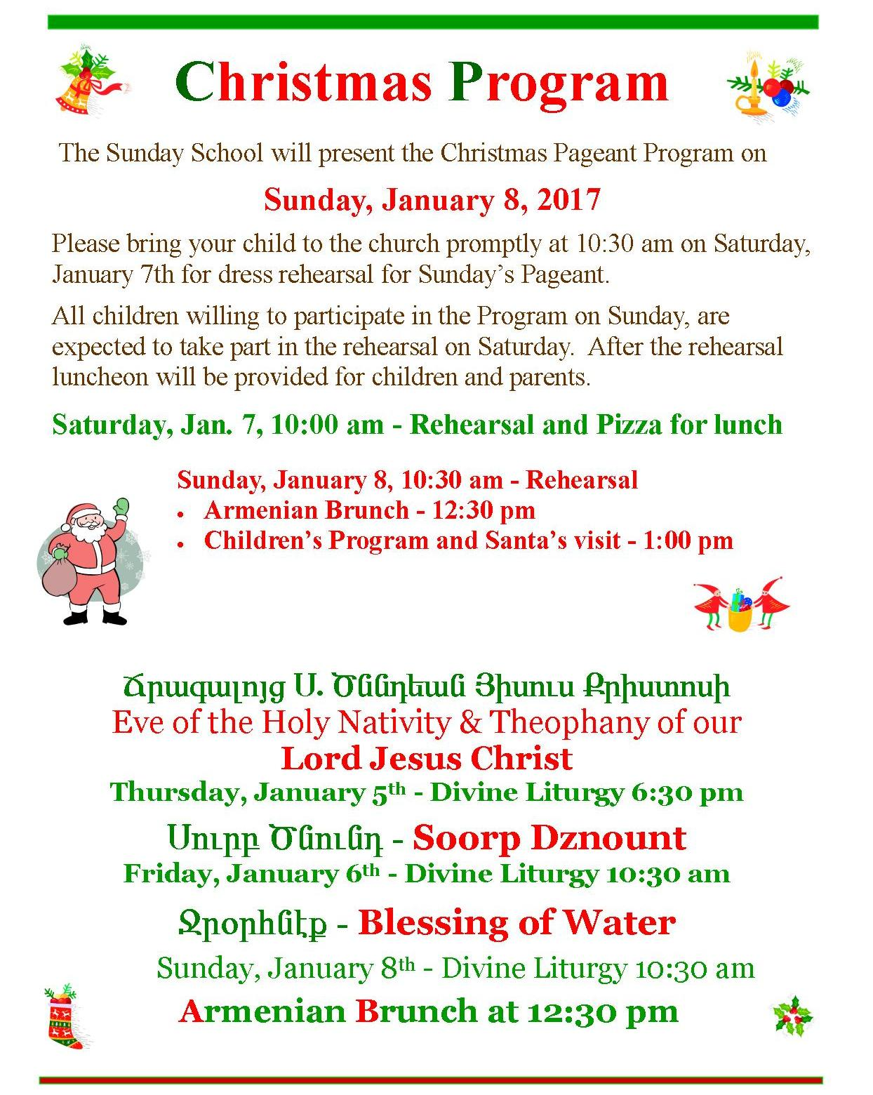 Church christmas programs - Ft Lauderdale Hollywood