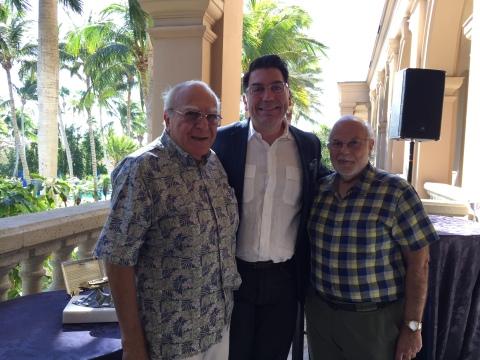 (L-R) Frank Avakian-Stoneson, Michael Aram, Rev. Fr. Garabed Kochakian