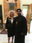 Emily Gentile and Rev. Fr. Paren Galstyan at St. David Armenian Church