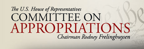 House Approps Cmte banner