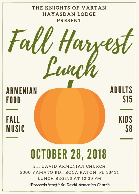 KOV Fall Harvest Flyer 2018