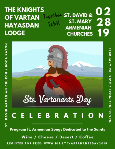 Vartanantz Day 2019
